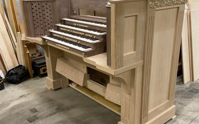 Organ Console Nearly Complete