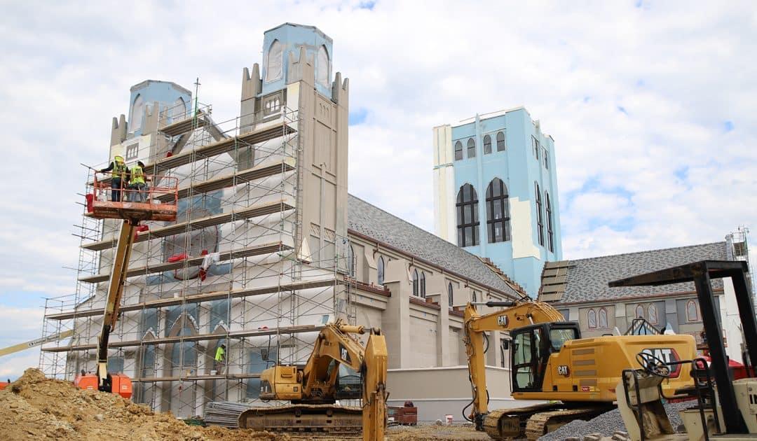Major Progress Made on Christ the King Chapel