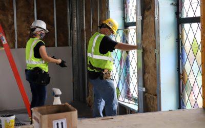 Artwork Installation Begins in New Chapel